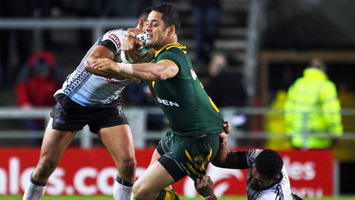 Jarryd Hayne will be out to prove he deserves a start in Australia's knockout games when he takes on Ireland.