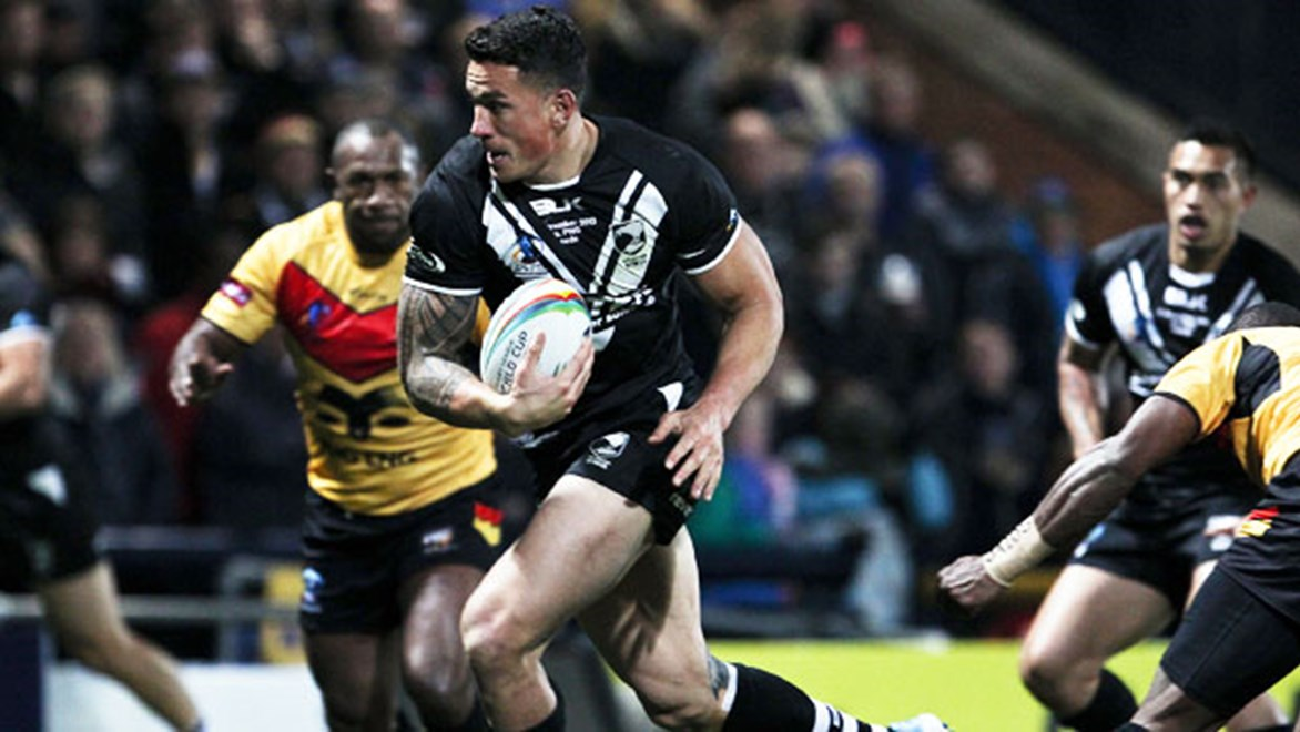 Sonny Bill Williams scored a hat-trick and was the star of the show in New Zealand's 56-10 win over Papua New Guinea.