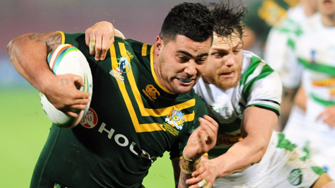 Andrew Fifita made a big impact off the bench again for Australia.