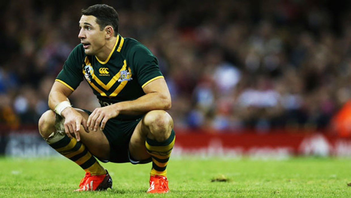 Billy Slater's World Cup has likely been ended by an injury suffered against the USA.