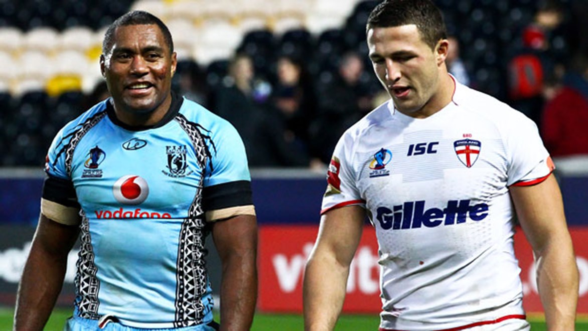 Sam Burgess showed his worth for England against Petero Civoniceva and Fiji.