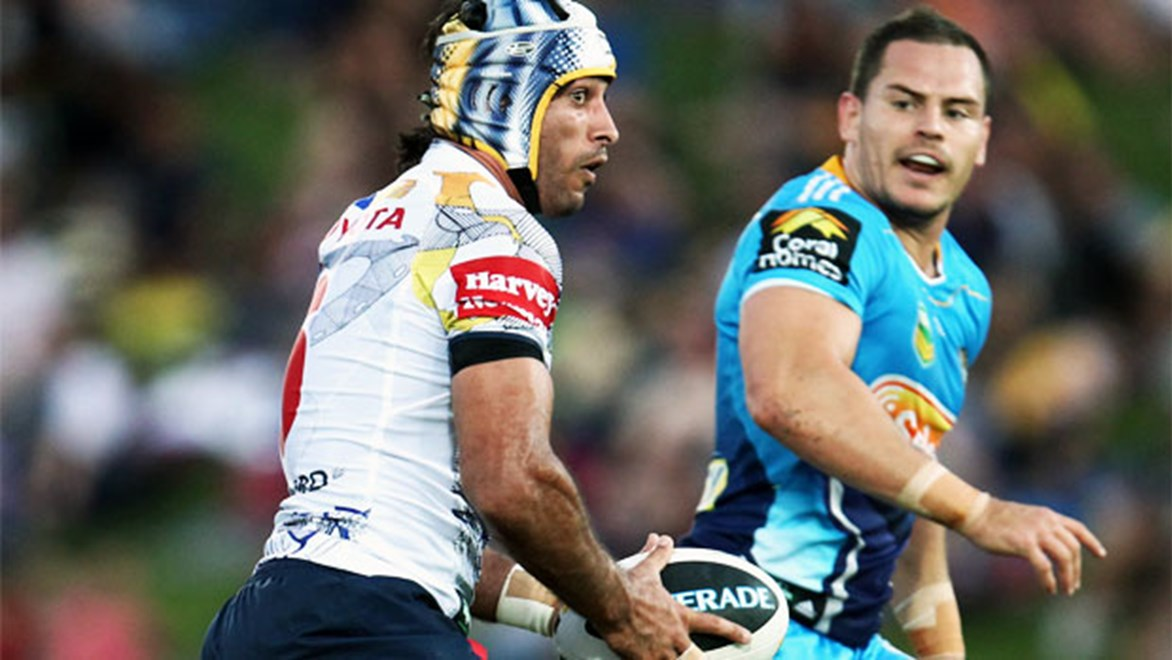 Johnathan Thurston will go back to where it all began in the Cowboys' trial against the Titans in Toowoomba.