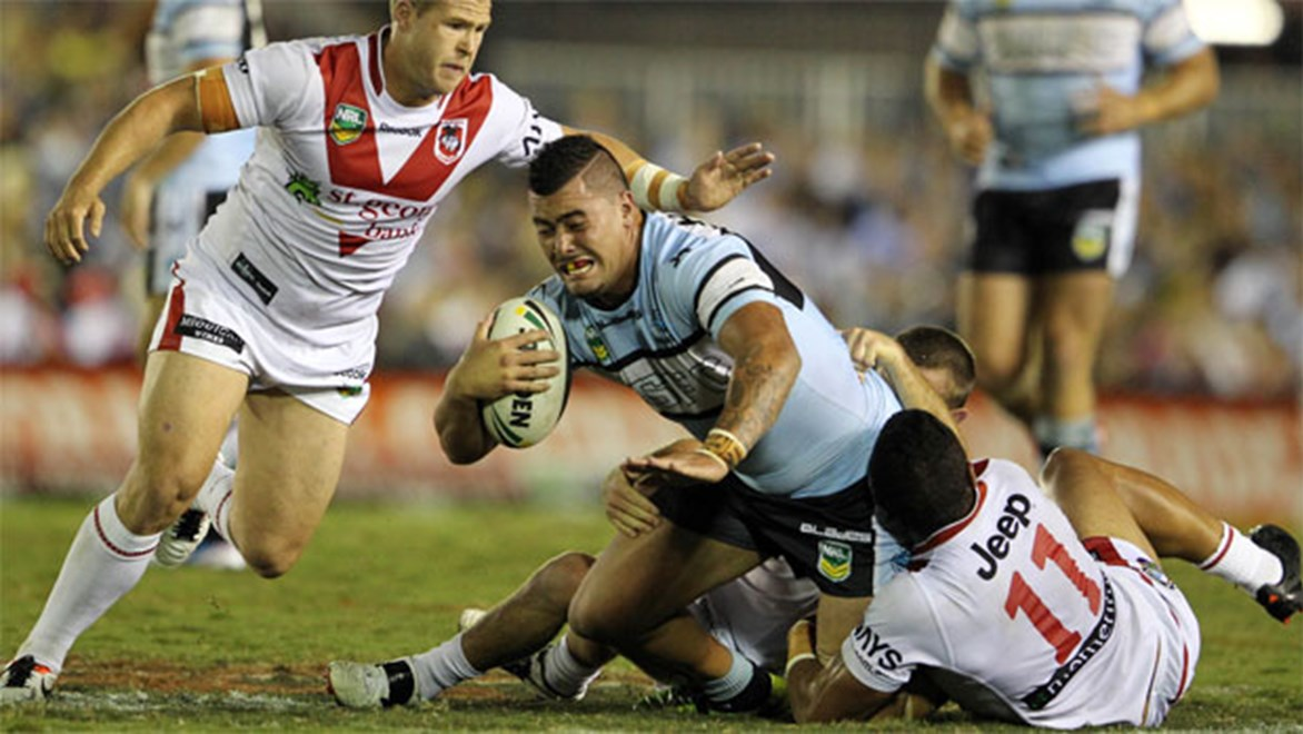 Will Andrew Fifita and the Sharks get the job done against arch rivals the Dragons again next season?