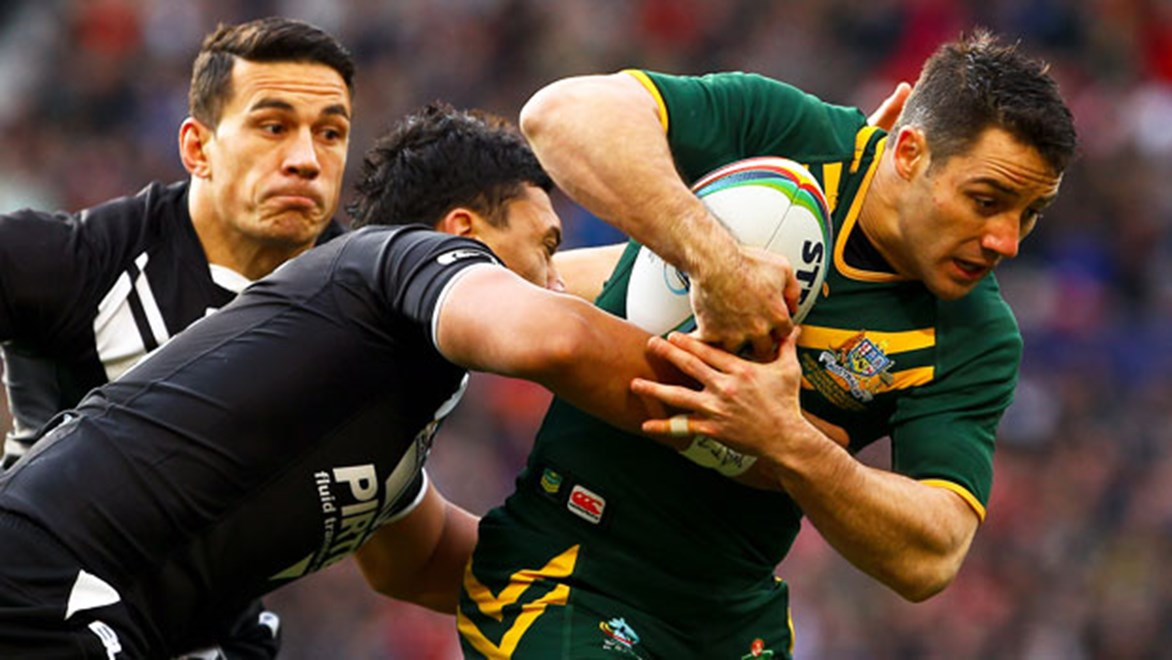 Cooper Cronk was one of the standouts for Australia in their 34-2 World Cup final win over New Zealand.