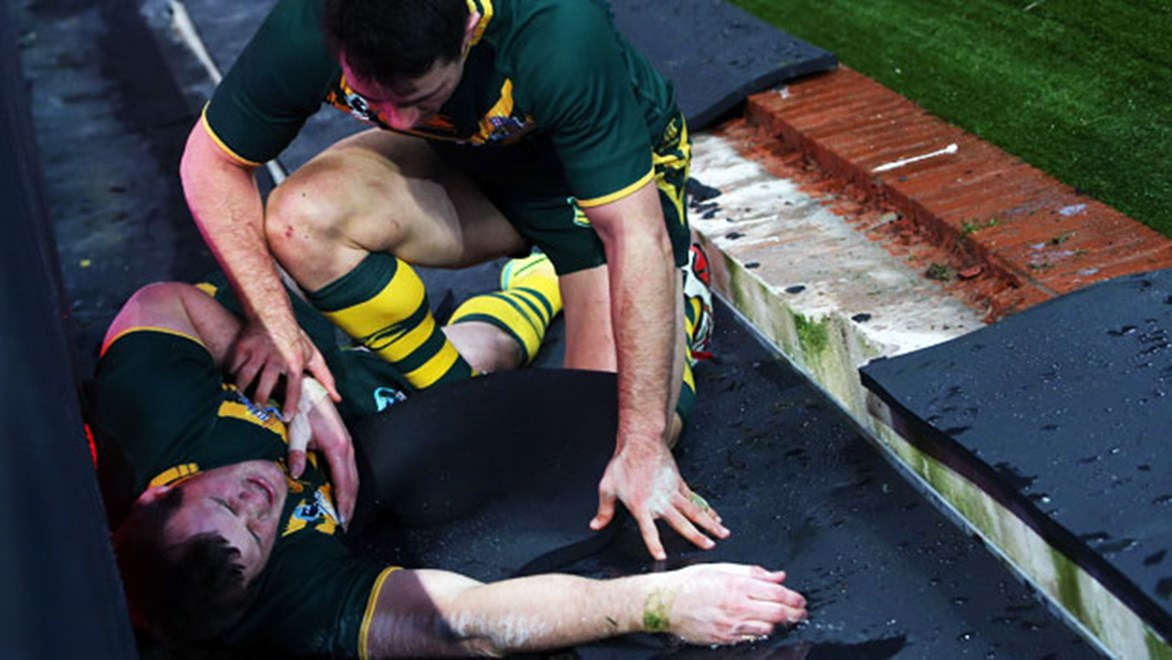 RLPA president Clint Newton has slammed the safety standards of grounds at the 2013 Rugby League World Cup.