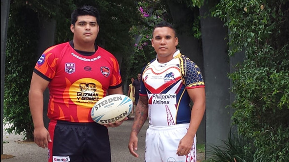 Jonathan Espinoza (left) and Luke Srama are leading the international expansion of rugby league.