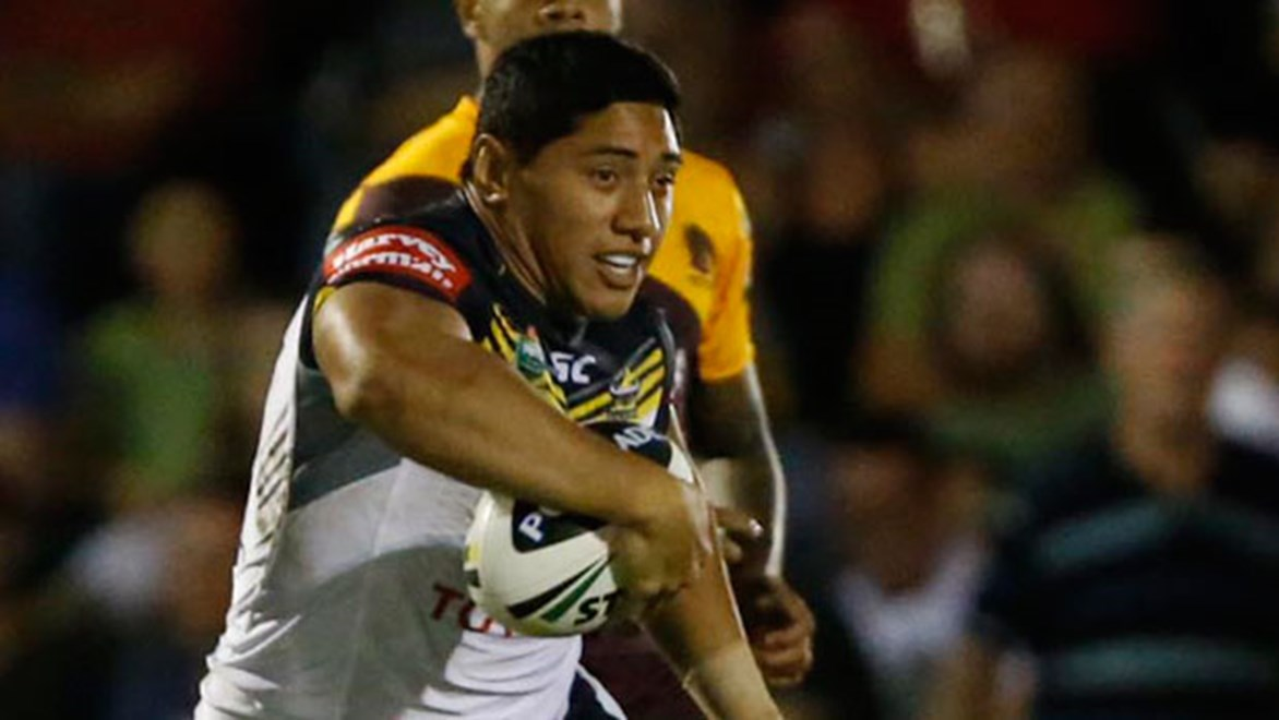 Jason Taumalolo's dominant display in the Cowboys' trial win has him in line for a starting spot for Round 1. Copyright: Charles Knight/NRL Photos