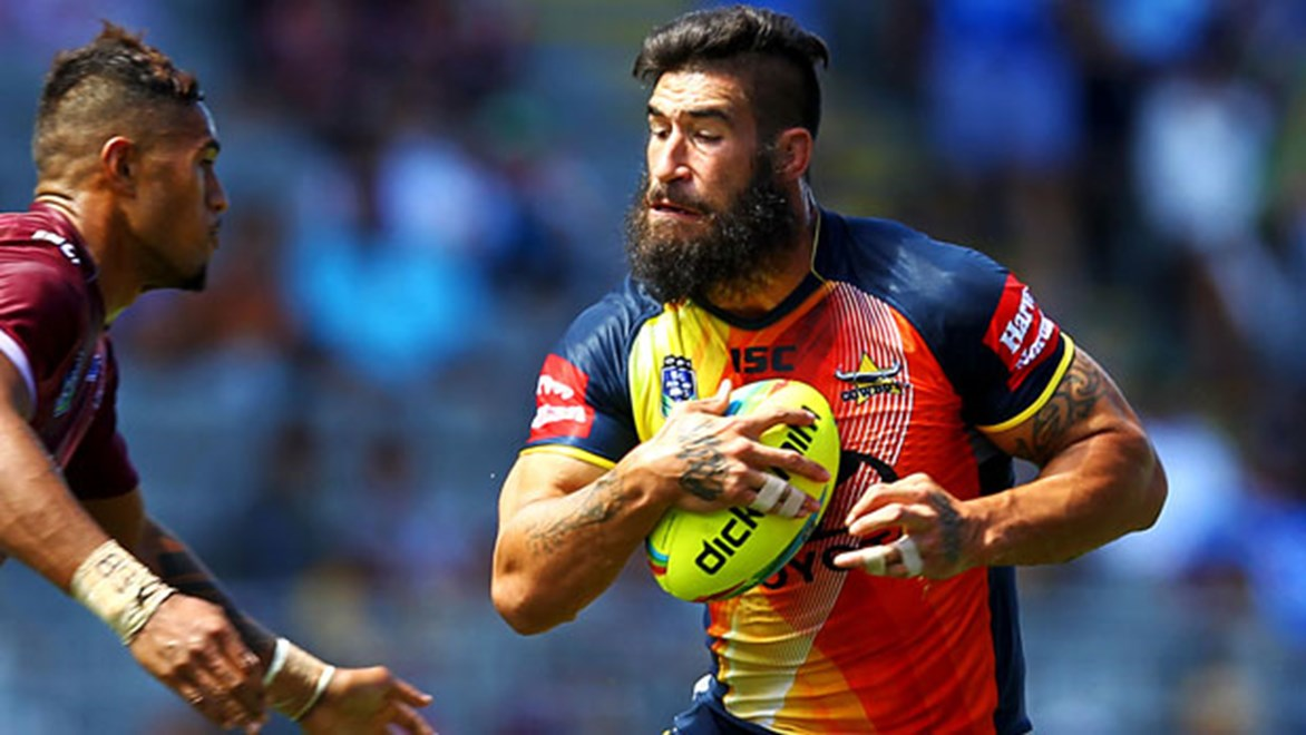 James Tamou in action for the Cowboys during the Auckland Nines. Photo: photosport.co.nz