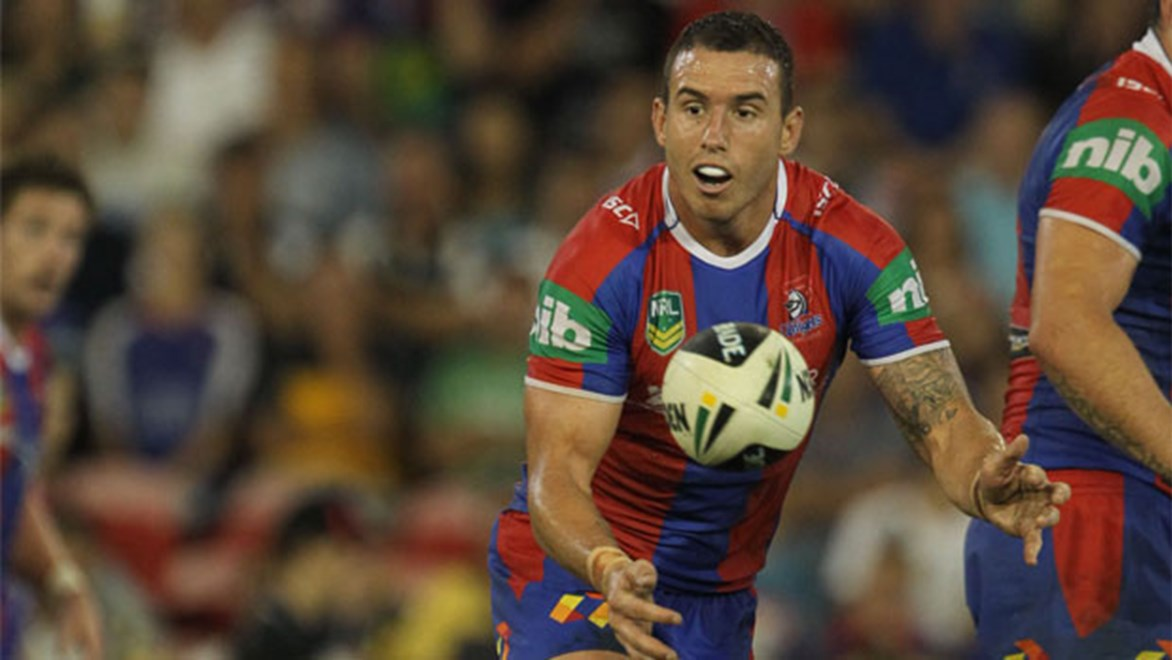 Darius Boyd will play his first game of 2014 in this weekend's trial but Kurt Gidley and Jarrod Mullen are out injured. Copyright Colin Whelan/NRL Photos.
