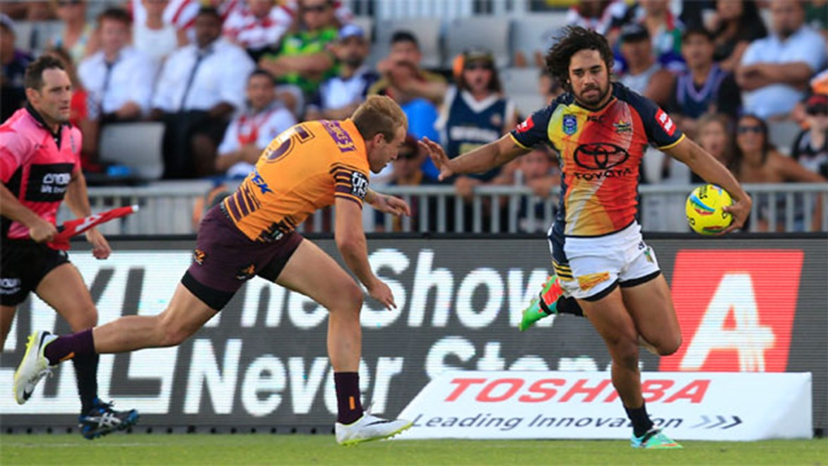 Matt Bowen's nephew Javid is one of three candidates Cowboys coach Paul Green will trial on Saturday against the Titans. Copyright: NRL Photos