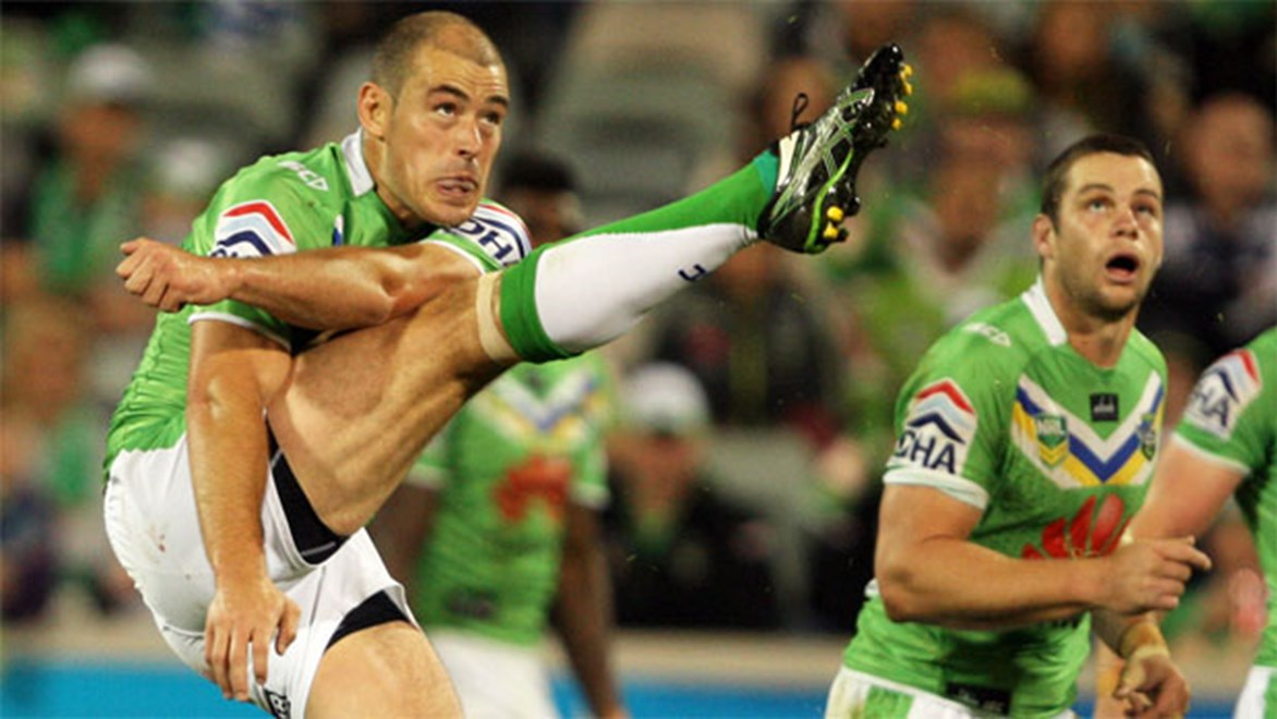 Raiders playmaker Terry Campese is coming off his first full pre-season in years. Copyright: Robb Cox/NRL Photos.