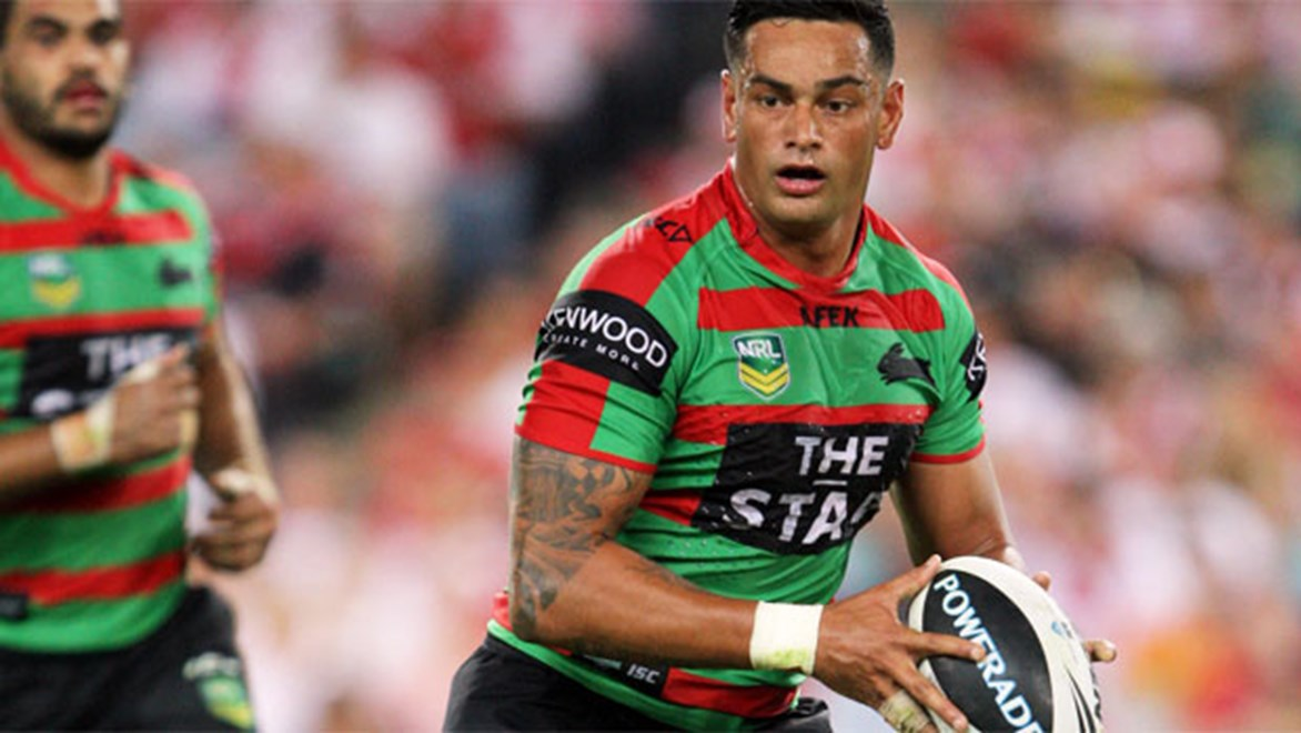 John Sutton's move from five-eighth to the forward pack is arguably the biggest change to the Rabbitohs in 2014. Copyright: Robb Cox/NRL Photos.