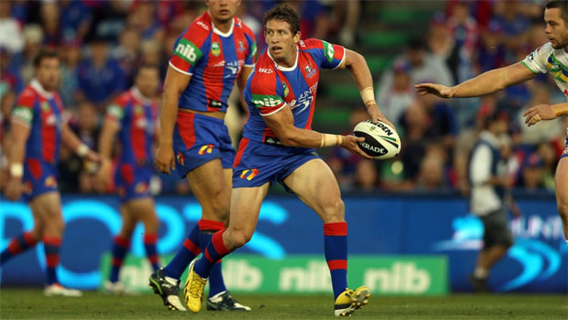 Knights skipper Kurt Gidley will be needed more than ever with Jarrod Mullen out for four months. Copyright: NRL Photos/Renee McKay.