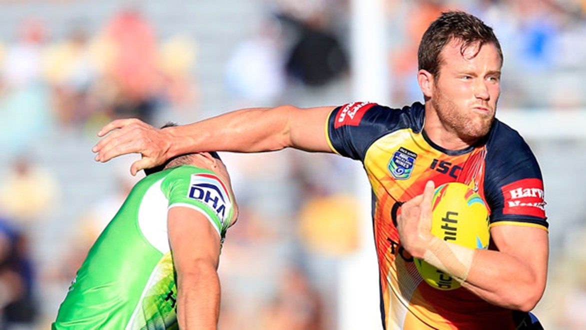Gavin Cooper faces a battle to retain his place in the Cowboys starting forward pack for Round 1. Copyright: Shane Wenzlick/NRL Photos