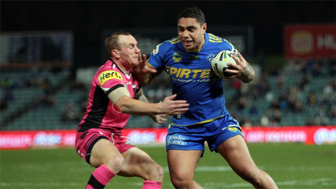 Eels centre Willie Tonga played just four games last season and 16 out of a possible 48 since joining the Eels in 2012. Copyright: NRL Photos/Robb Cox.