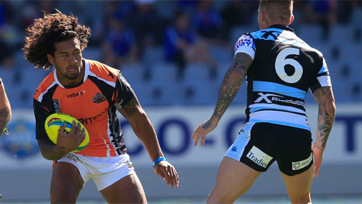 Wests Tigers forward James Gavet was a revelation in the Dick Smith NRL Auckland Nines. Copyright: Shane Wenzlick/NRL Photos