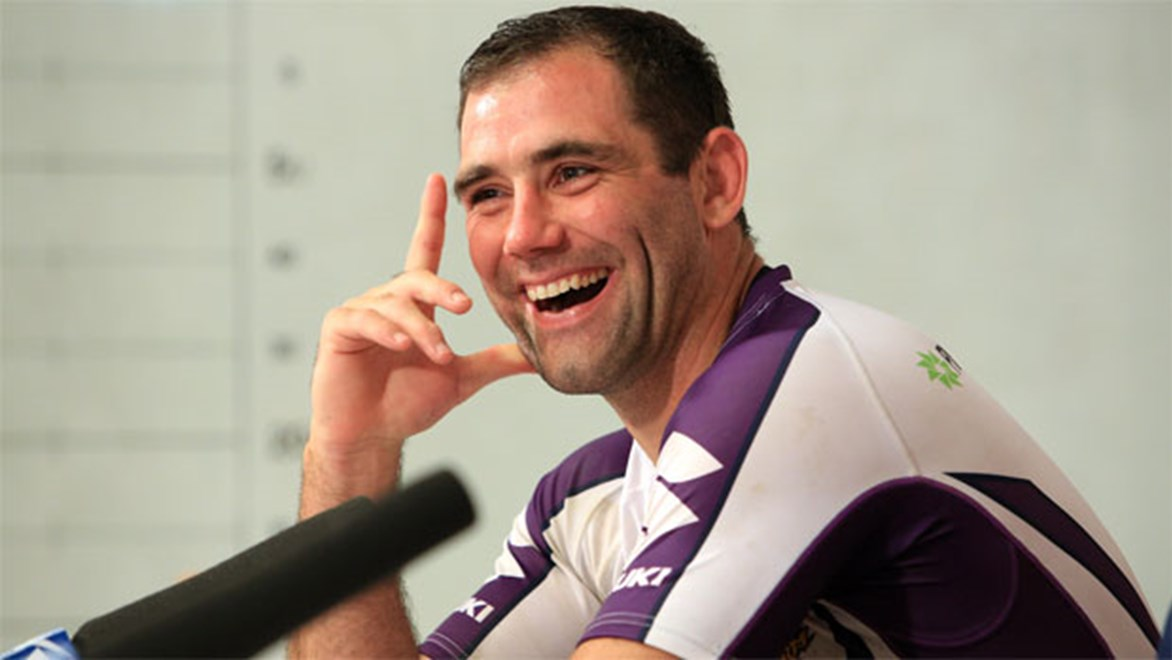 Cameron Smith will be a one-club player after agreeing to stick with the Melbourne Storm. Copyright: Robb Cox/NRL Photos.