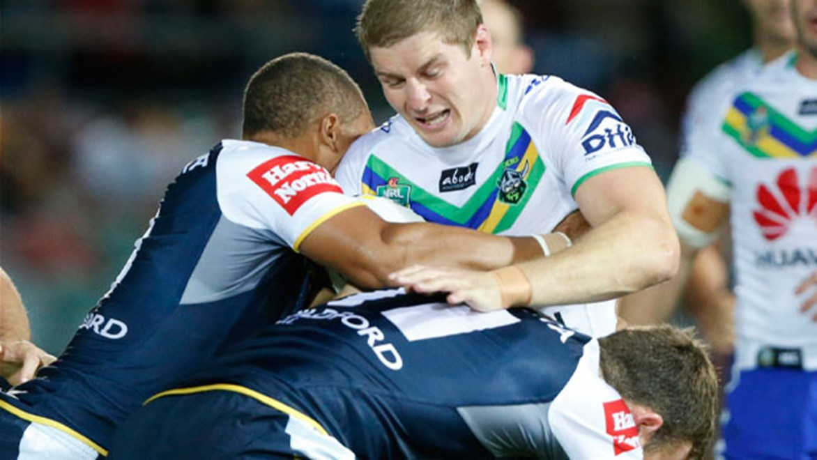 The Cowboys defence gets another stern test when they face Ben Barba's Broncos on Friday night. Copyright: Charles Knight/NRL Photos