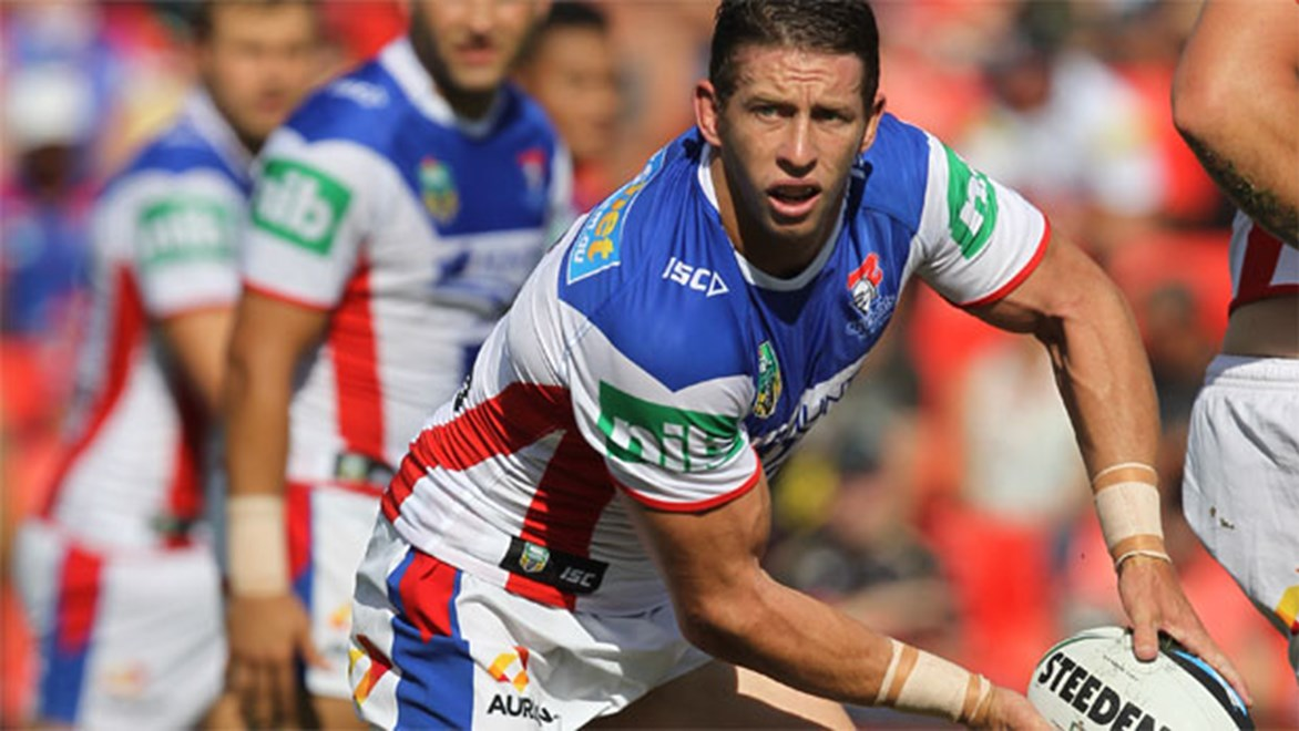 Kurt Gidley returns to his old fullback role to fill in for the injured Darius Boyd at Newcastle. Copyright: Colin Whelan/NRL Photos.