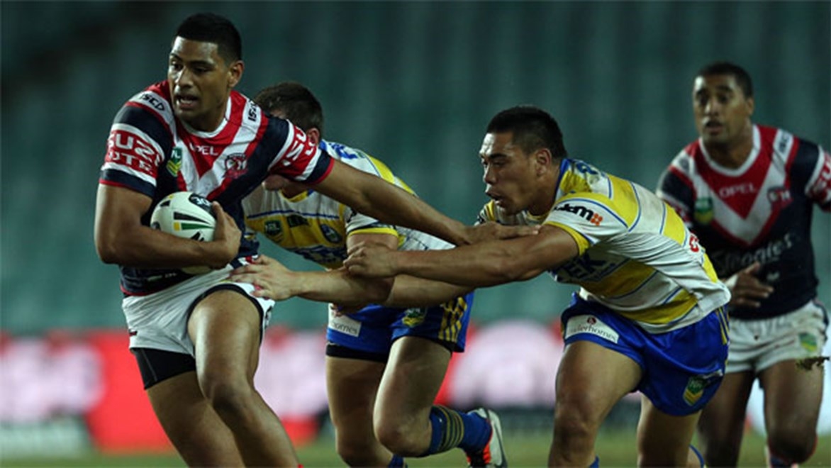 Towering Roosters winger Daniel Tupou scored three tries in two games against his junior club last season. Copyright: NRL Photos/Renee McKay.