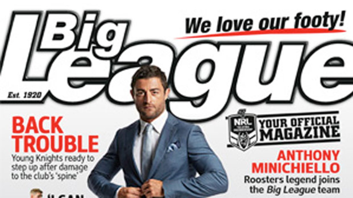 Roosters captain Anthony Minichiello joins the Big League team as a columnist in 2014. Copyright: Supplied.