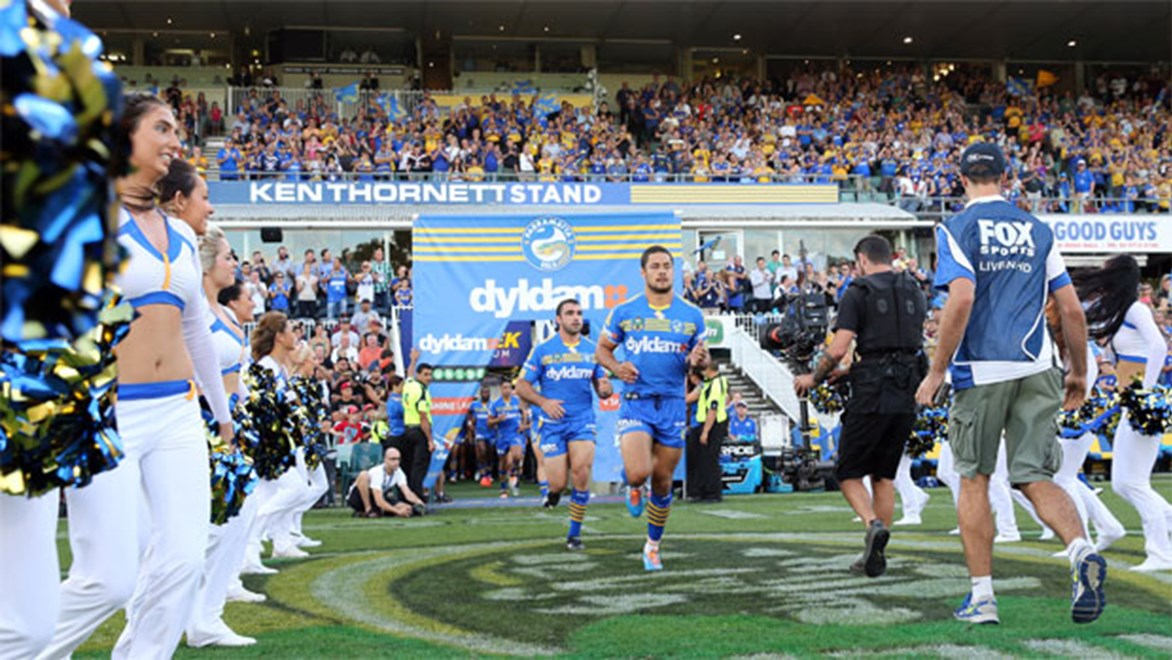 Eels co-captain Jarryd Hayne says there's a new look to the side this year, and it's not just the new jersey. Copyright: NRL Photos/Grant Trouville.