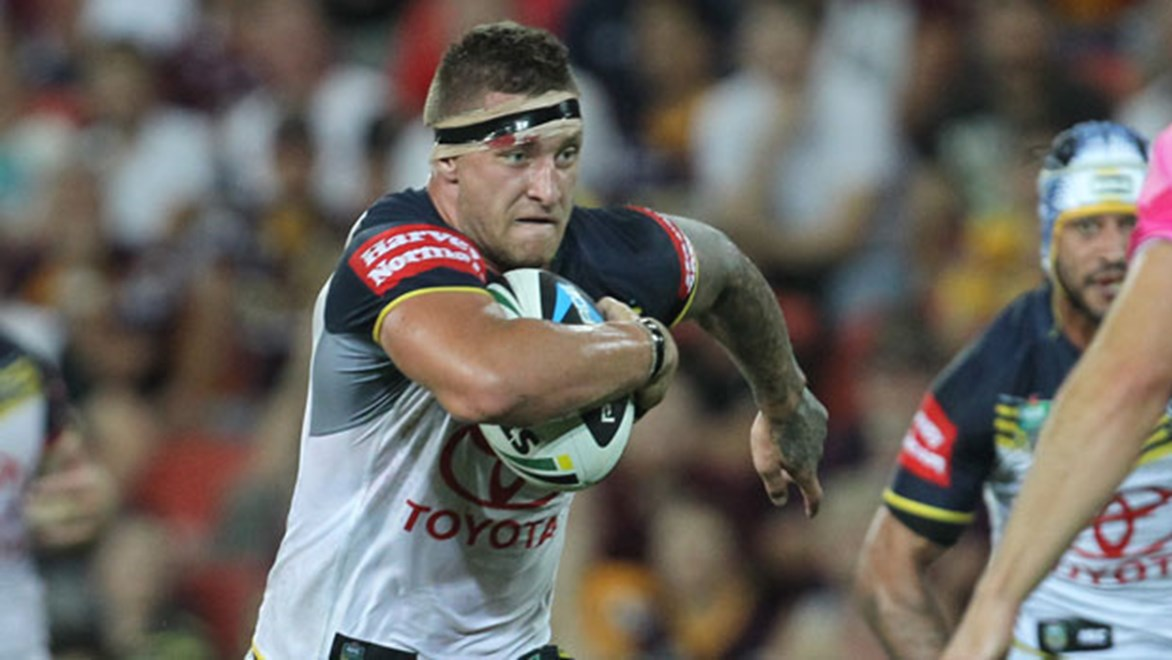Tariq Sims looked the man most likely to break things open for the Cowboys but they came up four points shy on Friday night. Copyright: Col Whelan/NRL Photos
