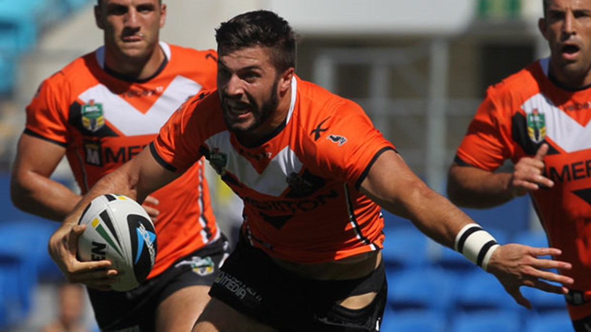 Wests Tigers fullback James Tedesco has lit up the NRL with two blistering displays in the opening fortnight of the competition. Copyright: Col Whelan/NRL Photos