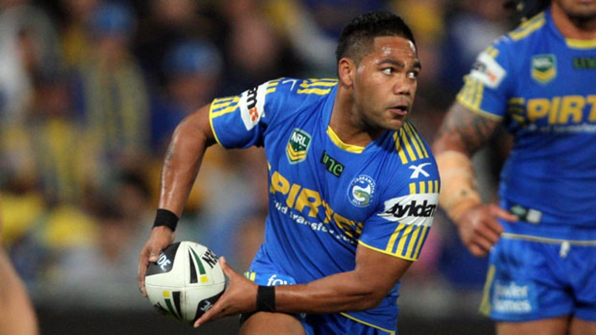 Chris Sandow has not been sighted in the NRL with Parramatta since Round 17 last season. Copyright: Robb Cox/NRL Photos