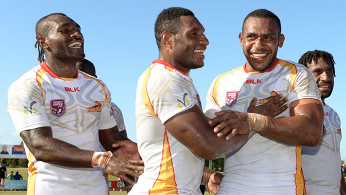 The PNG Hunters have made a flying start to their Intrust Super Cup admission and face the also undefeated Northern Pride on Saturday. Copyright: SMP Images/QRL Media
