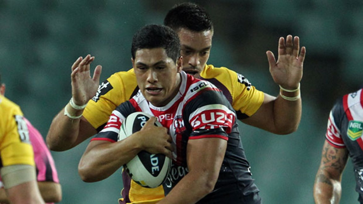 Roger Tuivasa-Sheck's added influence is giving an extra dimension to the Roosters attack in 2014. Copyright: Grant Trouville/NRL Photos