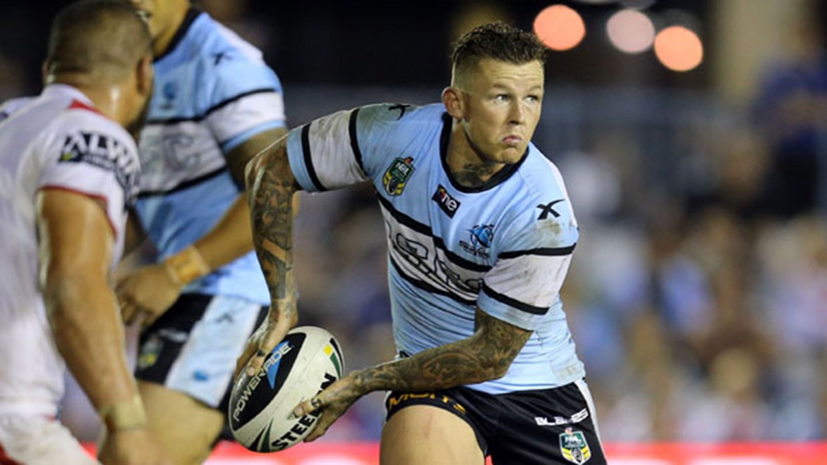 The return of Todd Carney was one of a number of positives in an improved showing from the Sharks on Saturday night. Copyright: Grant Trouville/NRL Photos