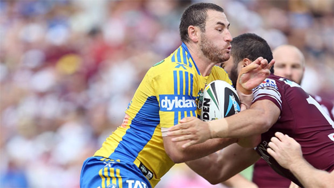 Eels backrower Ben Smith says despite a disappointing loss, the side's efforts against Manly represent a step in the right direction. Copyright: Robb Cox/NRL Photos.