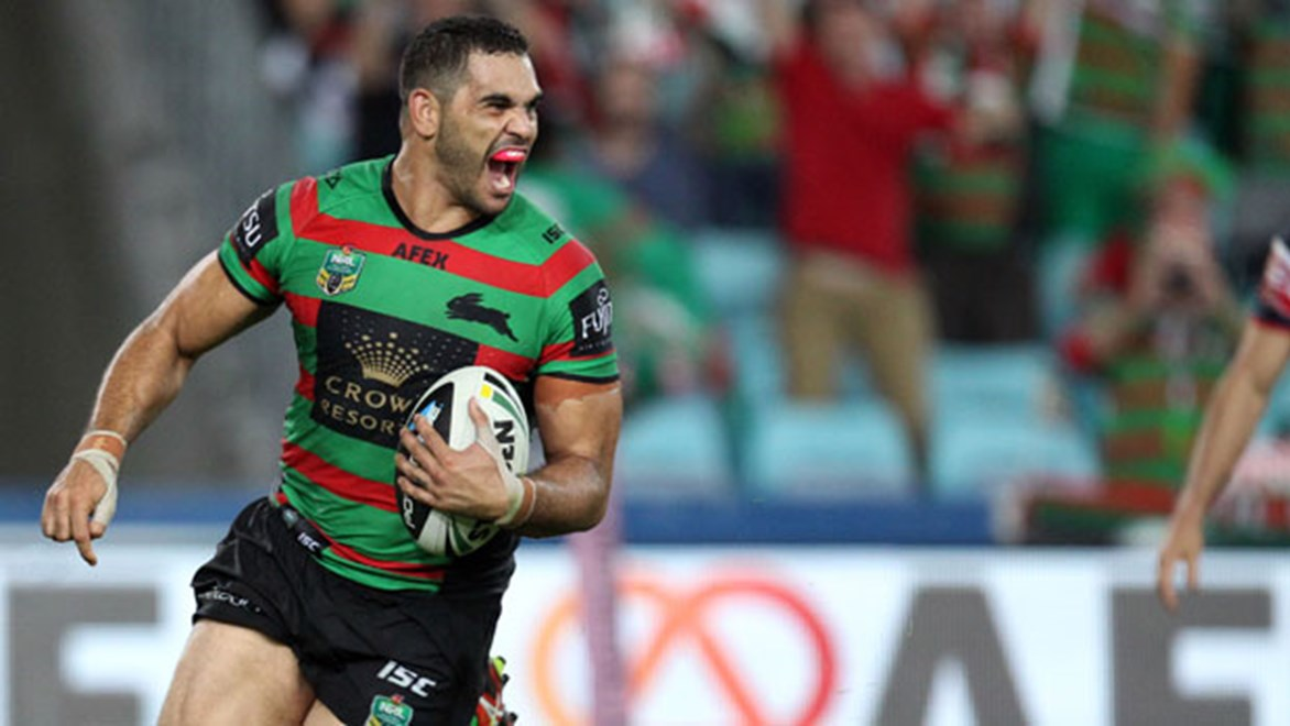 Greg Inglis has made a point of rubbishing rumours of a rift among players at Redfern. Copyright: Grant Trouville: NRL Photos.