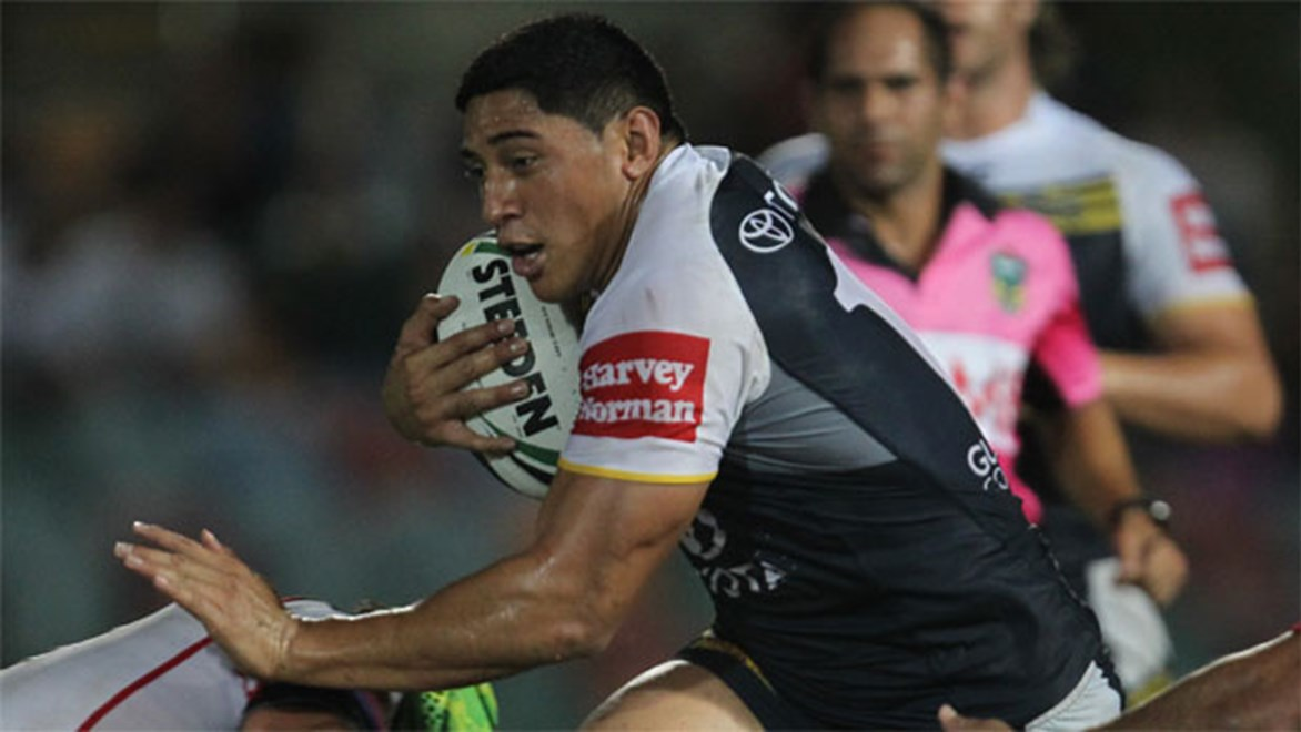 Cowboys backrower Jason Taumalolo brings the same destructive potential as Titans and former Kangaroos big man Dave Taylor. Copyright: Colin Whelan/NRL Photos.