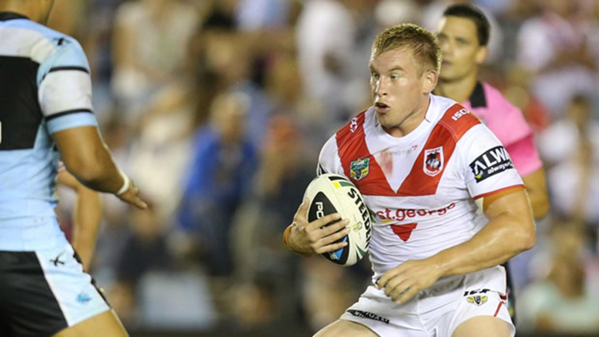 English prop Mike Cooper hasn't been fazed by much since joining the Dragons to play in the NRL. Copyright: Grant Trouville/NRL Photos