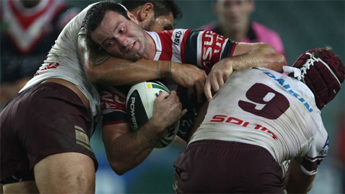 Roosters forward Boyd Cordner says his side can take some positives out of a strong defensive effort in its loss to Manly. Copyright: Colin Whelan/NRL Photos.