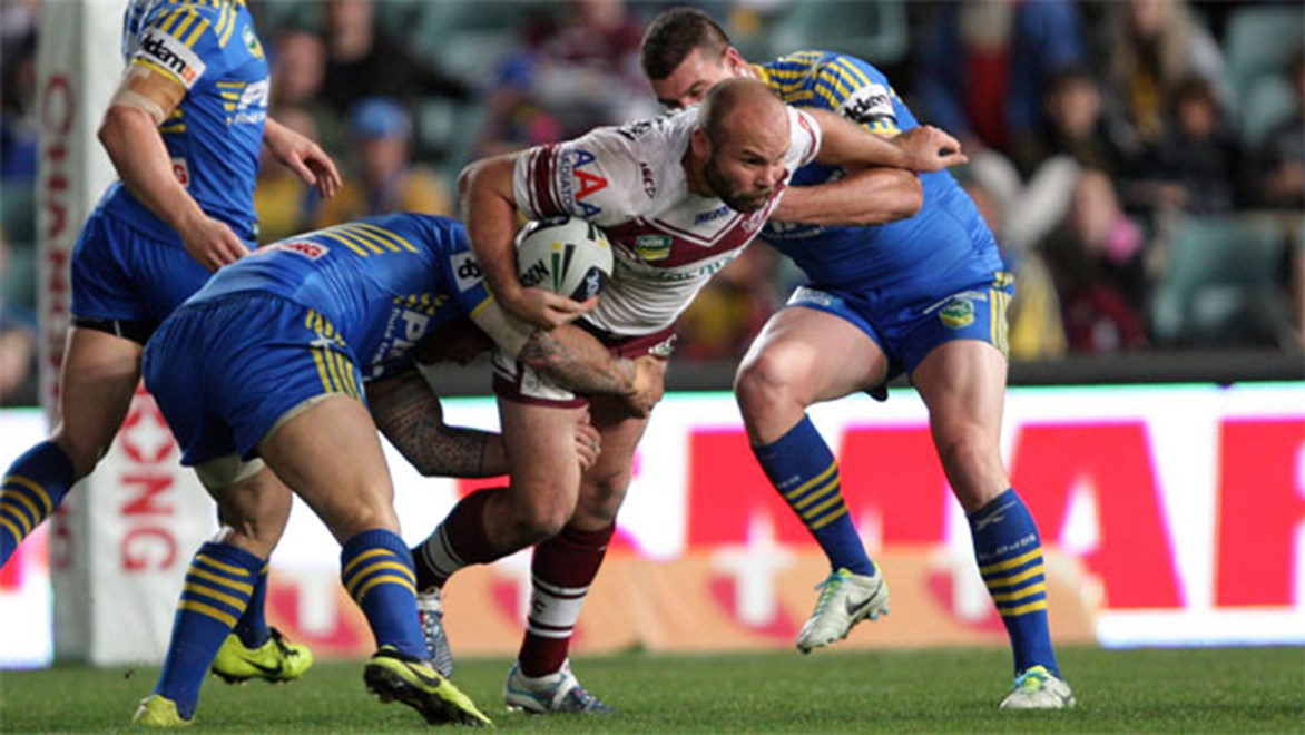 Parramatta's task of beating Manly just got tougher after lock Glenn Stewart was named to play on Sunday. Copyright: NRL Photos/Robb Cox.