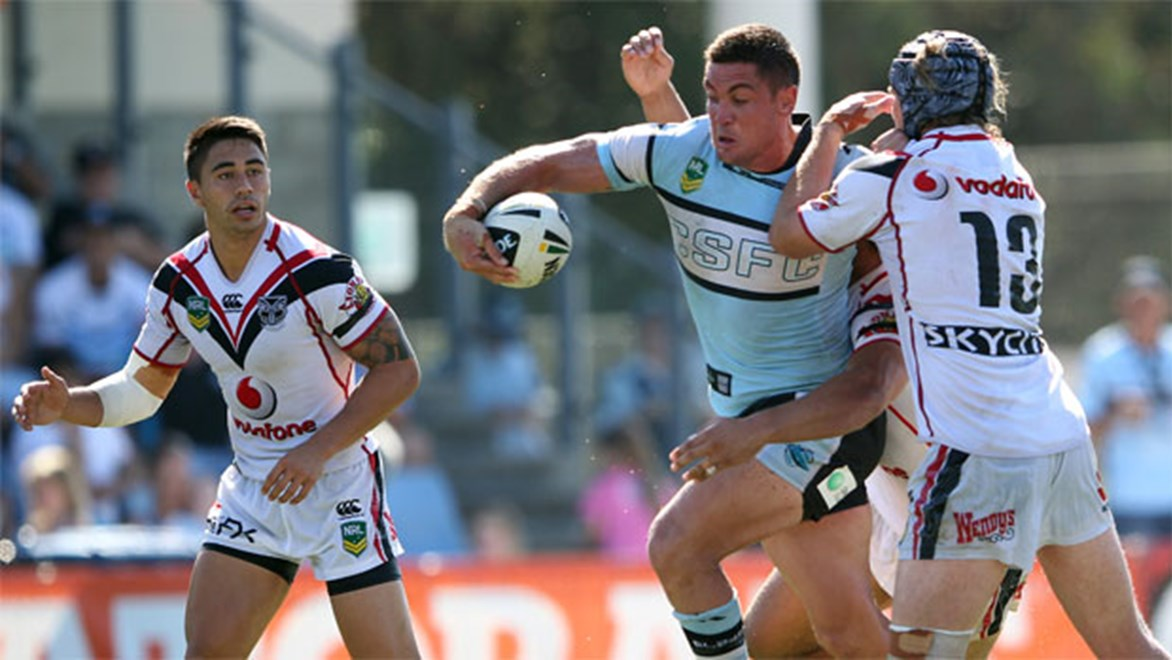 Chris Heighington and the Sharks must draw on all their experience to pull out their first win of the season. Copyright: NRL Photos/Grant Trouville.