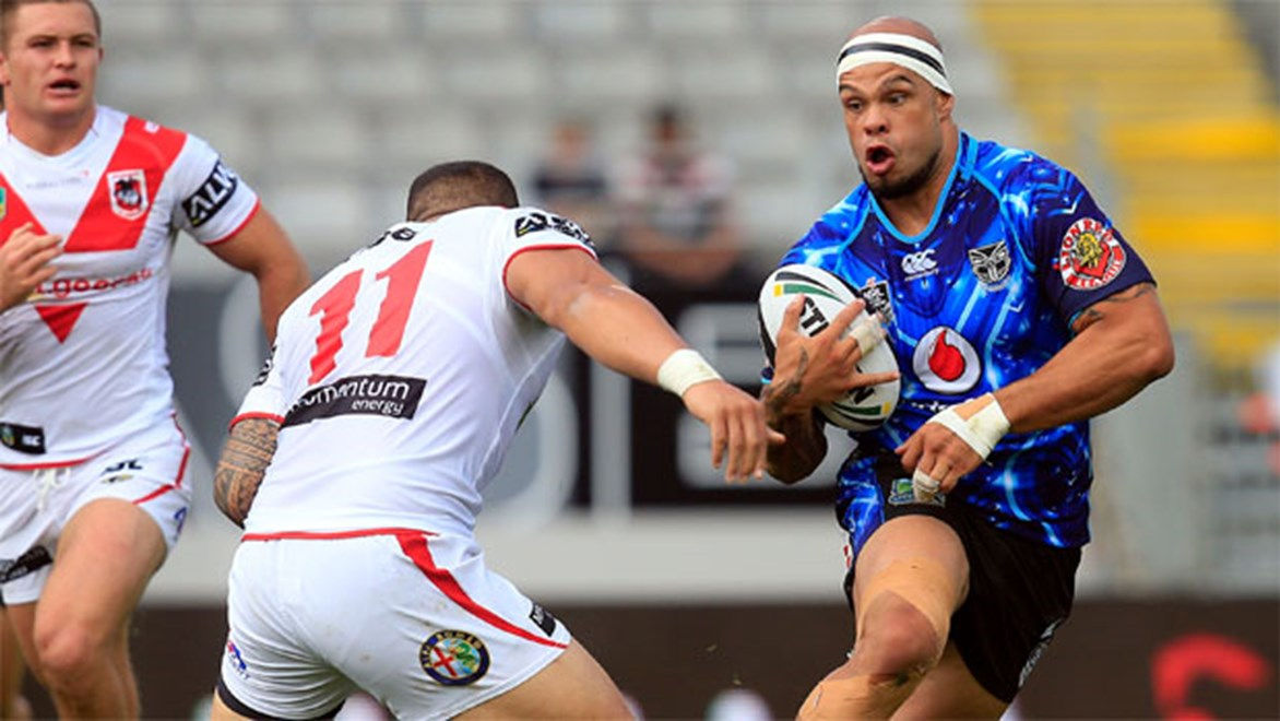 Warriors prop Sam Rapira says the team's forward pack has lifted its game in the past fortnight. Copyright: NRL Photos/Shane Wenzlick.