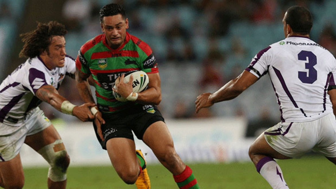 Rabbitohs captain John Sutton will break the all-time record for most games for South Sydney on Saturday. Copyright: Renee McKay/NRL Photos.