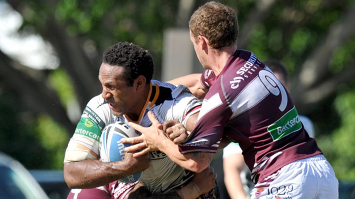 Former Kumul Rod Griffin will be a key figure in the middle for Ipswich against the PNG Hunters on Sunday. Copyright: SMP Images/QRL Media