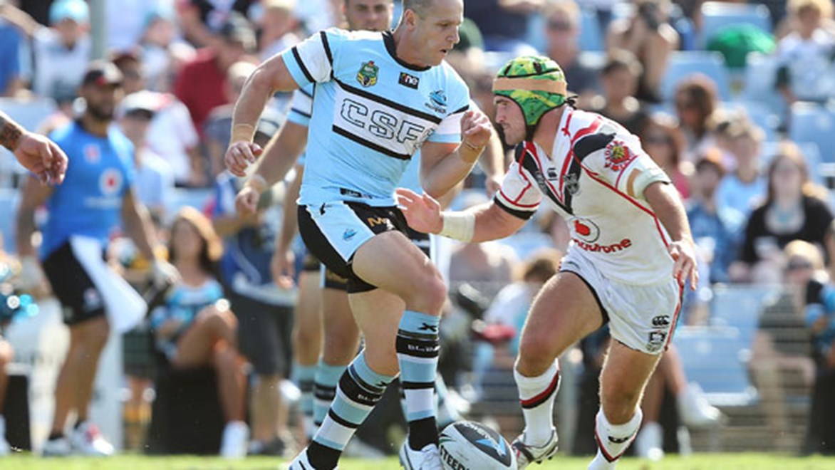Sharks halfback Jeff Robson played a typically steady hand during his return from injury in a big win over the Warriors. Copyright: Robb Cox/NRL Photos