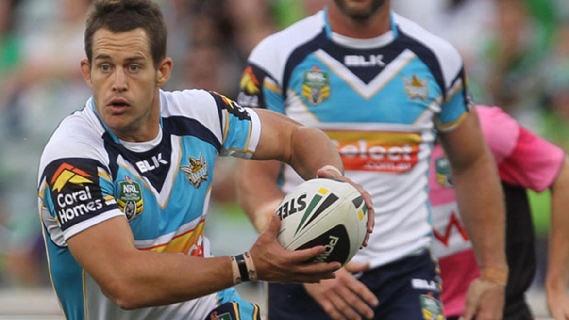 Ashley Harrison will hang up his boots at the end of the 2014 season. Copyright: Col Whelan/NRL Photos.