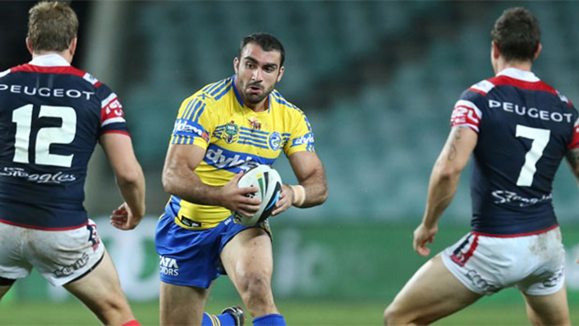 Eels skipper Tim Mannah will be hoping for a much improved showing when his side hosts the Roosters just a month after losing to them 56-4. Copyright: Grant Trouville/NRL Photos.