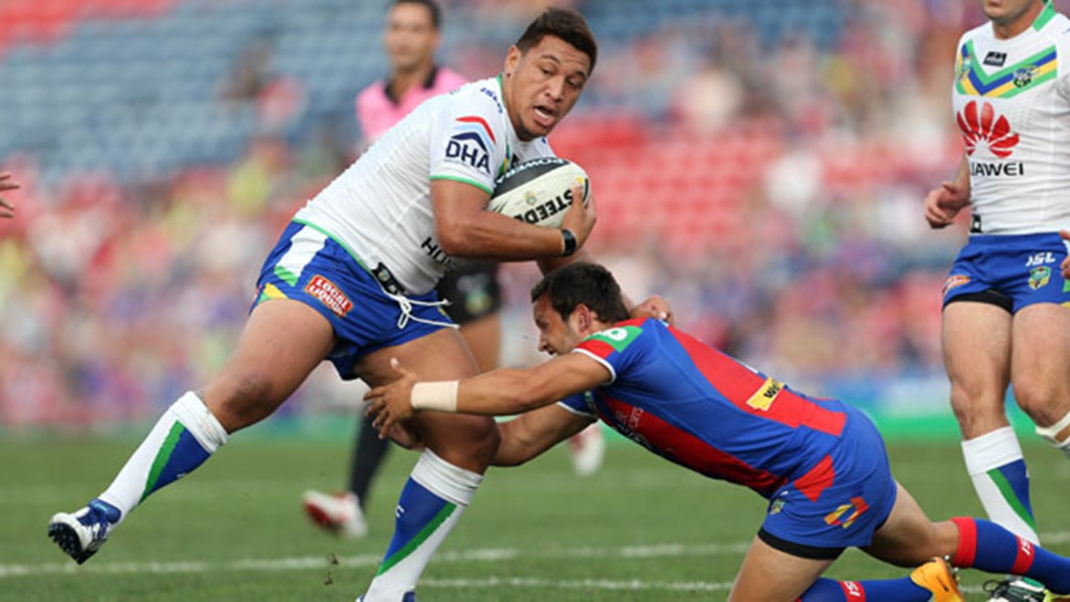 Raiders back-rower Josh Papalii will make his return from syndesmosis injury this weekend against the Knights. Copyright: Robb Cox/NRL Photos