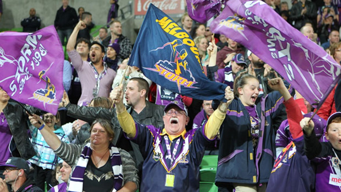 Storm fans have plenty to cheer about with a number of ticket deals for Monday night's clash with the Dragons. Copyright: Brett Crockford/NRL Photos