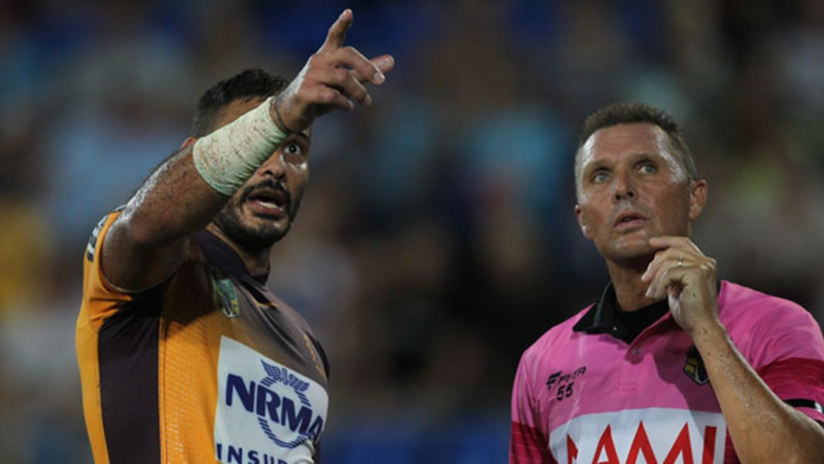 Ben Barba has suggested the NRL adopt a similar process to the NFL where on-field officials make decisions after viewing video evidence.