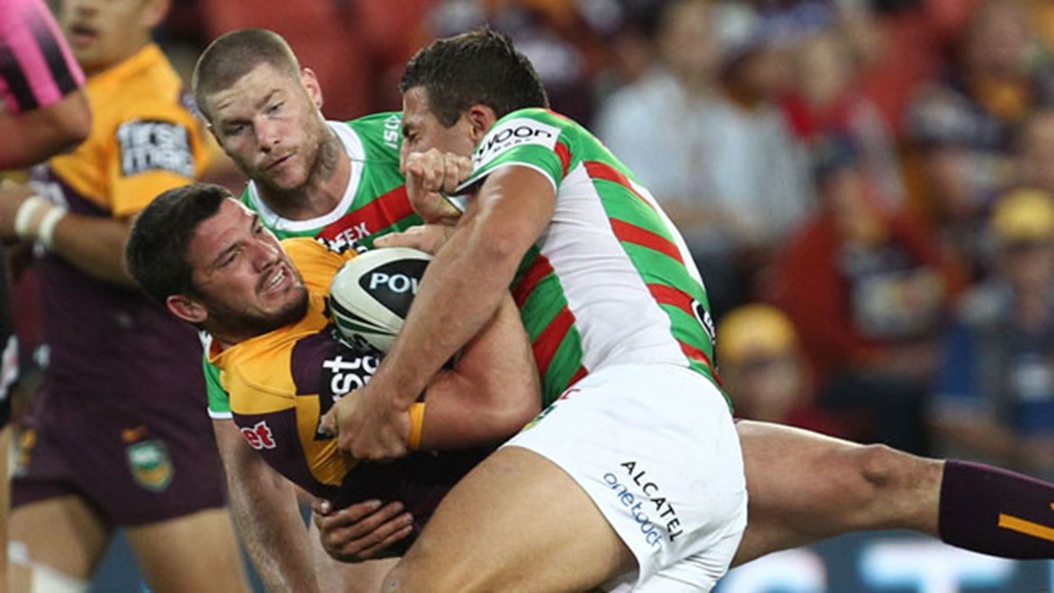 Suncorp Stadium will shake when Brisbane's Matt Gillett and South Sydney's Sam Burgess renew hostilities on Friday night.