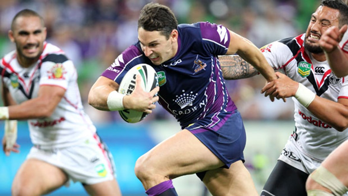 Storm superstar Billy Slater will look to build on his recent form spike in his side's Anzac Day clash against the Warriors in Melbourne.
